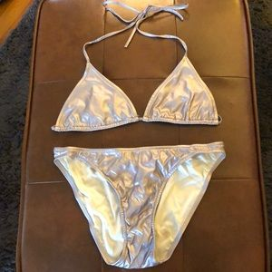 Calvin Klein Metallic Size 8 Bikini